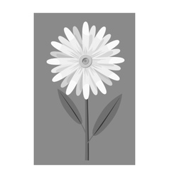 Honey flower icon gray monochrome style vector