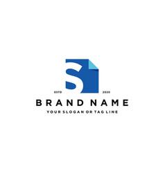 Letter s document logo design vector