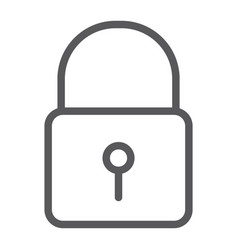 lock line icon security and padlock door lock vector image