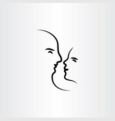 man and woman in love icon symbol vector image