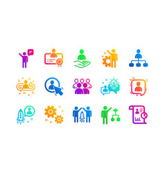Management icons business people algorithm and vector