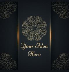 mandala mehendi - gold ethnic template vector image