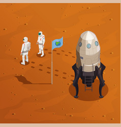 mars exploration design concept vector image
