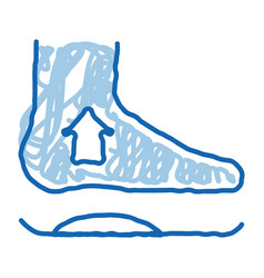 Medical orthopedic foot equipment doodle icon hand vector