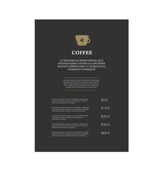 Menu page design vector