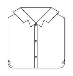 Monochrome silhouette of man shirt folded vector
