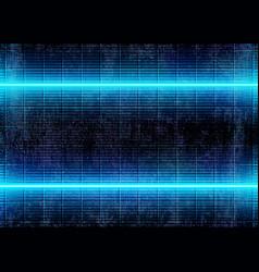 Neon 3d glow lights futuristic cyberpunk vector