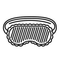 Nighttime mask icon outline style vector