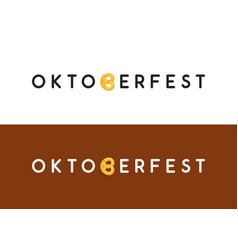 oktoberfest typography logo for web site header vector image
