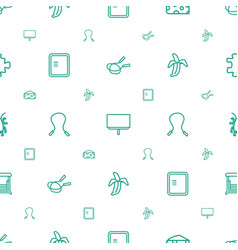 Painting icons pattern seamless white background vector