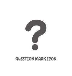 question mark icon simple flat style vector image