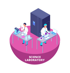 science laboratory 3d isometric research lab with vector image