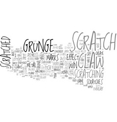 Scratch word cloud concept vector