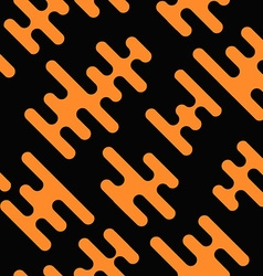 Seamless background with abstract shapes orange on vector image