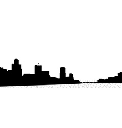 Silhouette of the town vector