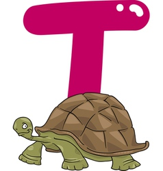 T for turtle vector image vector image