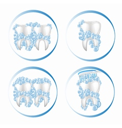 Teeth and toothpaste vector