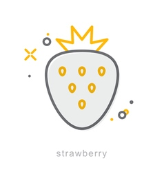 Thin line icons Strawberry vector