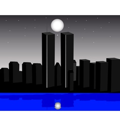 Twin towers vector