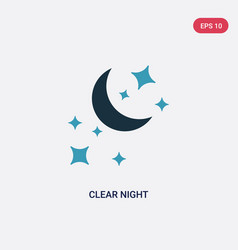 two color clear night icon from shapes concept vector image