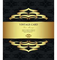 Vintage Golden Card vector