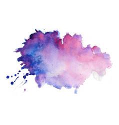 Watercolor texture splatter stain background vector