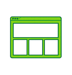 web window sign lemon scribble icon on vector image