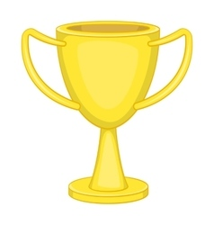 Winner trophy cup icon cartoon style vector image