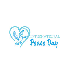 World peace day greeting card diverse people vector