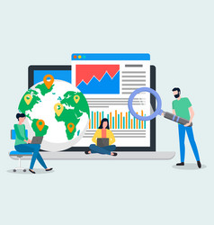 world performance business concept people working vector image