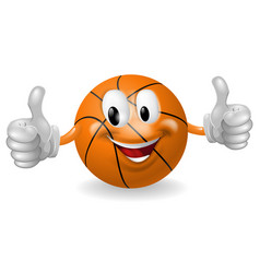 basket ball mascot vector image