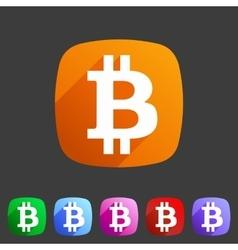 Bitcoin icon web sign symbol logo label vector image vector image