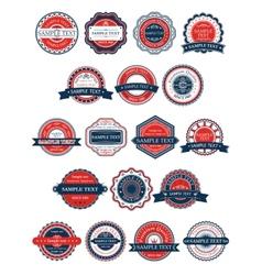 Circular retro badges or labels set vector image vector image