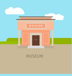 colored museum building vector image