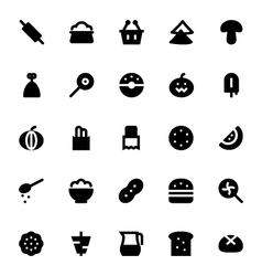 Food and drinks icons 4 vector