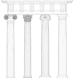 four classical orders vector image vector image