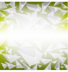 green crystal pattern vector image vector image