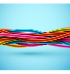Closeup Electric Cable vector image