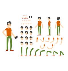 flat character creation set vector image