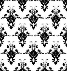 floarl black wall vector image vector image