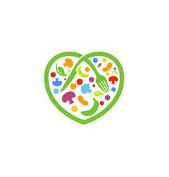 love healthy food vector image