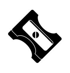 Pencil sharpener school pictogram vector