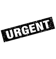 square grunge black urgent stamp vector image