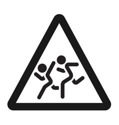school children sign line icon vector image vector image