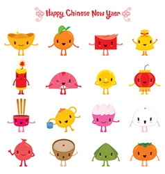 Chinese New Year Cute Cartoon Design Elements vector image