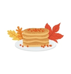 Pile of pancakes as a national canadian culture vector