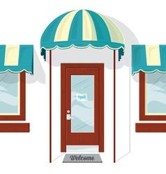 Store Front Door and Windows vector image