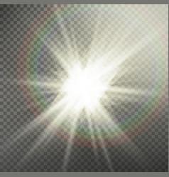 Sunlight special lens flare light effect light vector