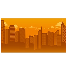Sunset Cityscape vector image vector image