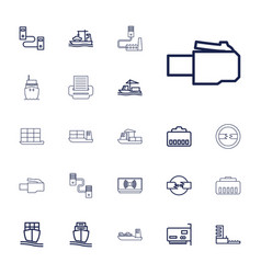 22 port icons vector
